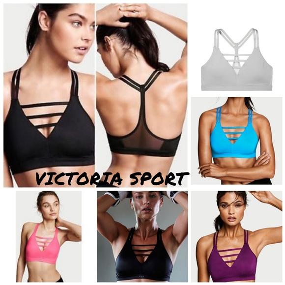 7f7766a458c0a NWT Victoria s Vecret Strappy Plunge Sports Bra. Boutique. Victoria s Secret